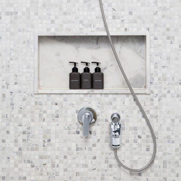 Filtr prysznicowy metalizowany z KDF