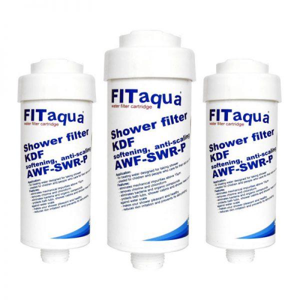 Zestaw 3 filtrów prysznicowych z KDF