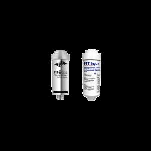 Zestaw filtr prysznicowy srebrny + Filtr pralkowo-zmywarkowy